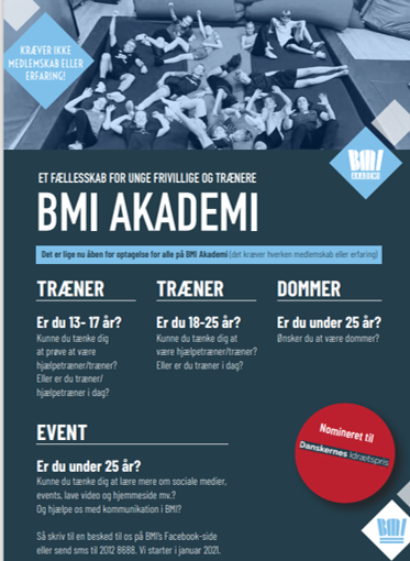 BMI Akademi 2021 åben for optagelse – nye linjer